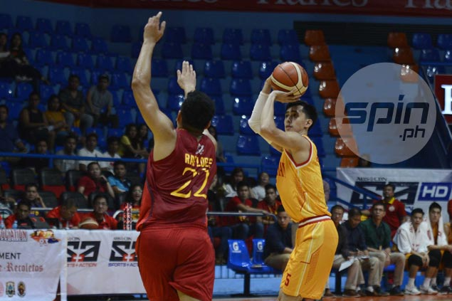 Stags catch fire from deep as San Sebastian shoots down Mapua to end two-game skid