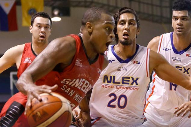 Ginebra sends NLEX crashing back to earth with blowout win in Pangasinan