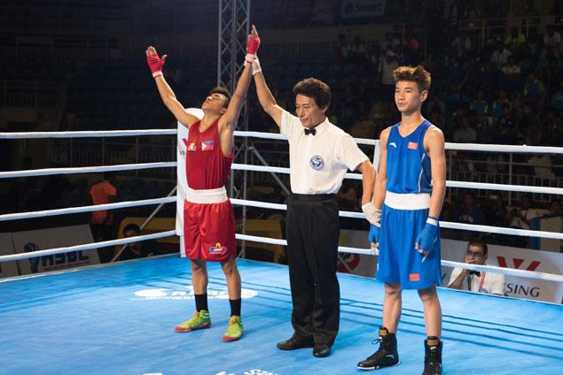 John Vincent Pangga, Kenneth Dela Pena last two Pinoy pugs standing in Asian Junior Championship