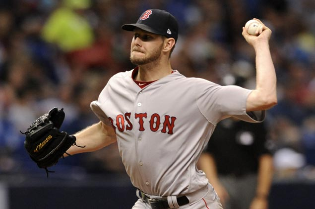 Chris Sale fans 13 as Boston Red Sox blank Tampa Bay Rays for seventh straight win
