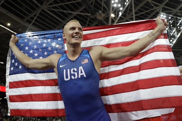 Rio Olympics bronze medalist Sam Kendricks wins pole vault gold at world championships