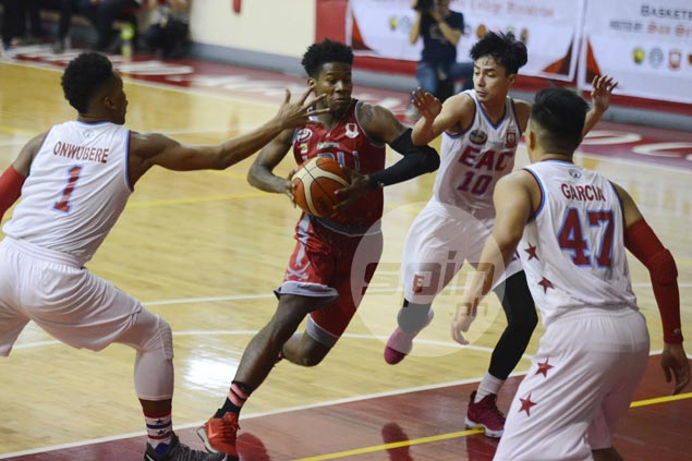 Lyceum survives Topex Robinson ejection, stretches streak to seven with squeaker over EAC