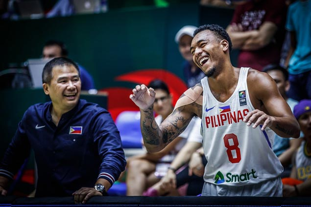 Another rough day at the office for Abueva, but 'Beast' at least can laugh it off