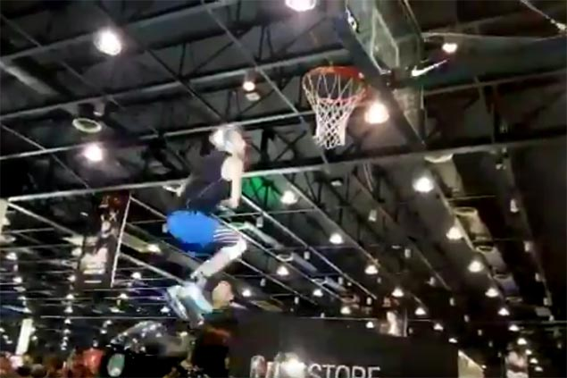 Dunk King sensation Jordan Kilganon shows off aerial artistry at History Con 2017