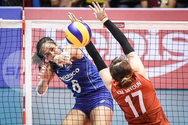 Korea continues fine play to deal Philippines second straight loss in Asian women's volleyball