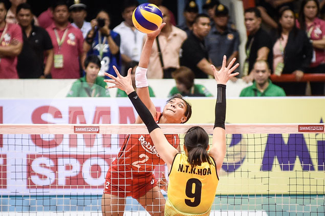 Proud moment for Philippine volleyball as hosts claim famous win over Vietnam