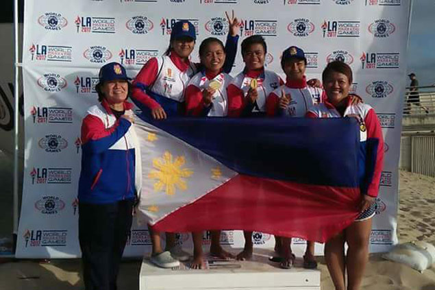 Davao lady cops stun Brazil pair to claim beach volley crown in World Police and Fire Games