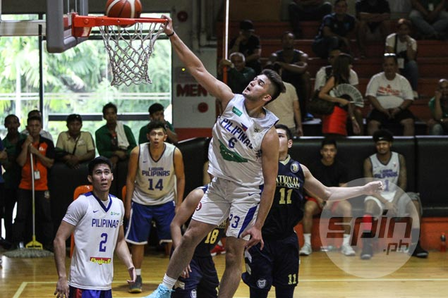 Gilas cadets pull away late against NU to complete sweep of tune-up games vs college teams