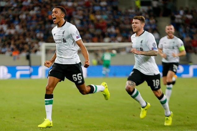 Teen star Trent Alexander-Arnold shines in European debut as Liverpool nips Hoffenheim