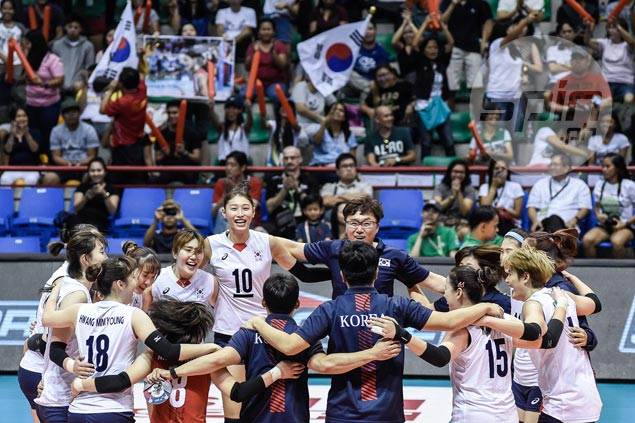 Korea scores straight-sets win over China in battle for third place in Asian women's volleyball