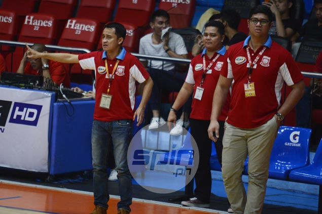 EAC coach Ariel Sison rues costly free throw misses in close loss to San Sebastian