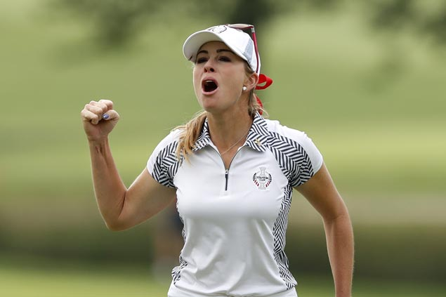 US takes five-point lead into final-day singles in Solheim Cup