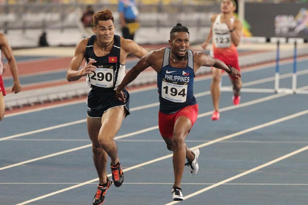 Fil-Am Eric Cray asserts SEA Games mastery with third straight 400m hurdles gold