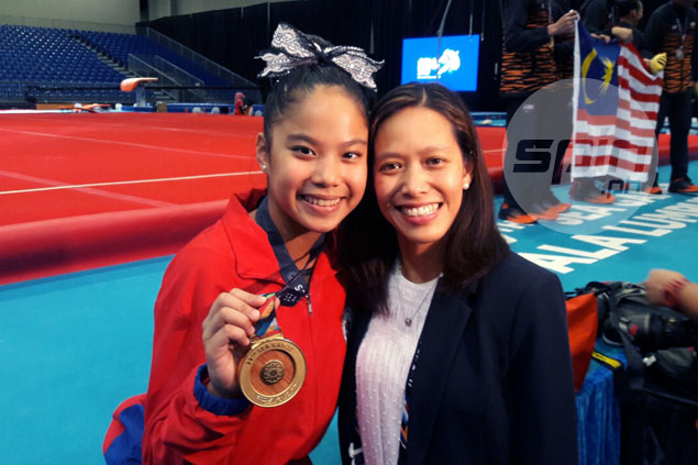 Gymnast Kaitlin De Guzman wins SEA Games gold 22 years after mom pulled off feat