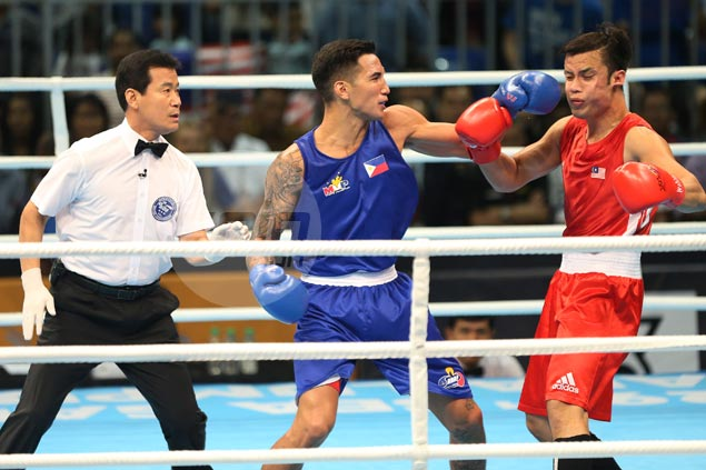 John Marvin dispatches foe in 21 seconds, joins Eumir Marcial as boxing gold medalists