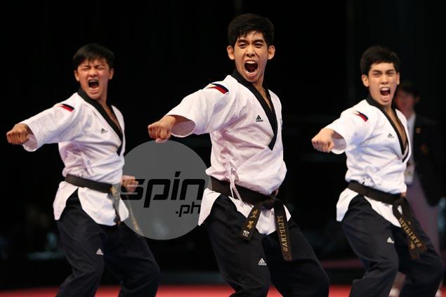 Pinoy jins Dustin Mella, Raphael Mella, Rodolfo Reyes retain SEA Games poomsae title