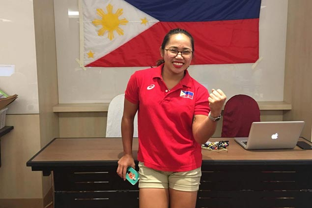 Hidilyn Diaz arrives in Kuala Lumpur to cheer on Filipino athletes in SEA Games