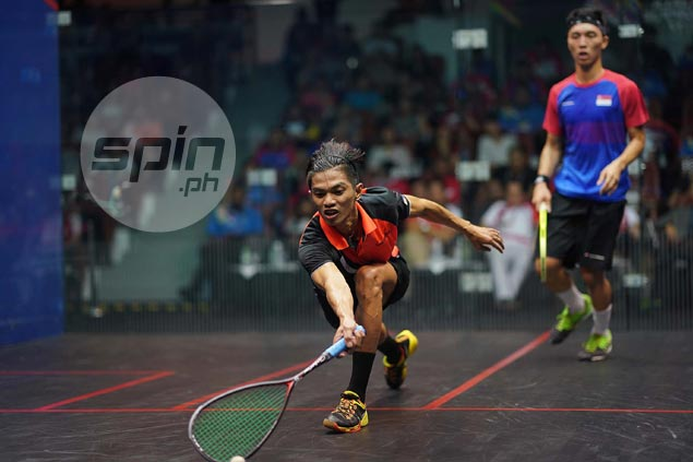 Philippine squash team settles for silver after losing to Singapore in SEAG final