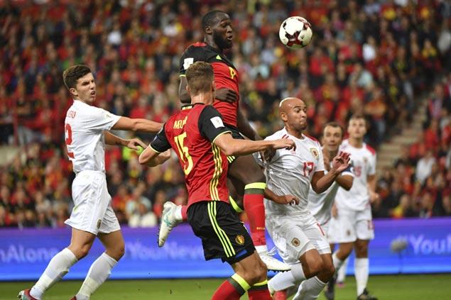 Hat tricks from Lukaku, Meunier lead Belgium's demolition of Gibraltar in World Cup qualifiers