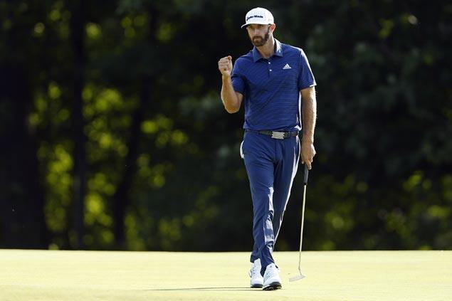 Dustin Johnson continues fine play to set pace at TPC Boston