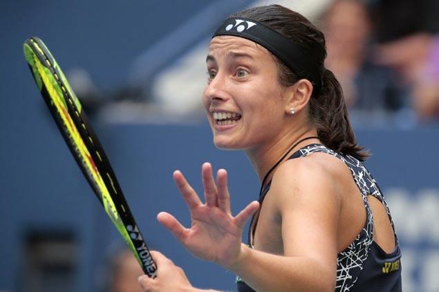 Anastasija Sevastova recovers from slow start to end Maria Sharapova's Grand Slam comeback
