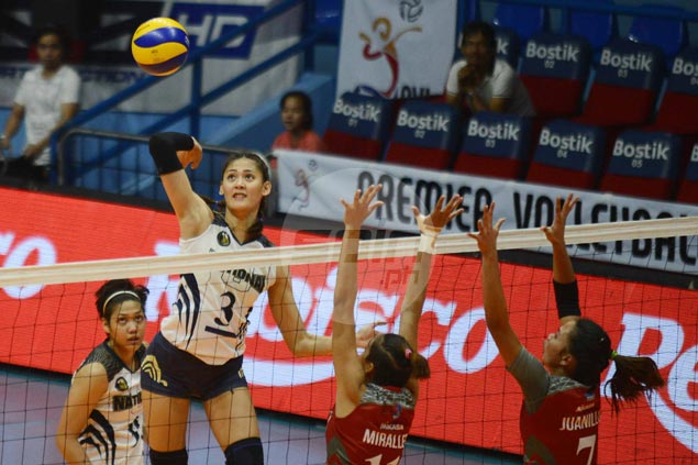 Jaja Santiago, Risa Sato show way as NU Lady Bulldogs score quick win over Lyceum in PVL