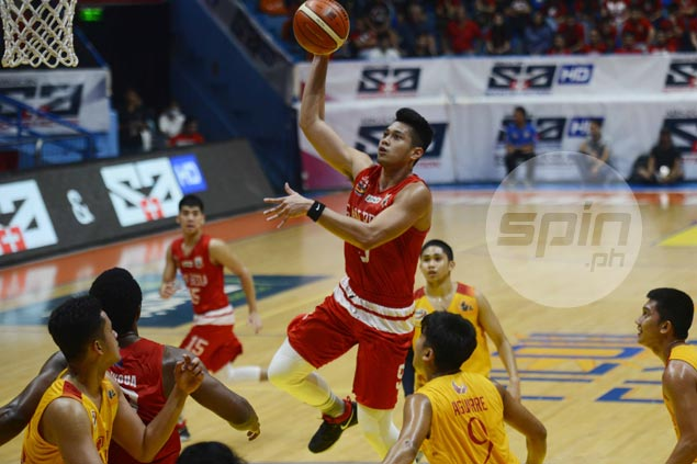 Shorthanded Red Lions prove strong enough to clobber Cardinals as San Beda sustains surge