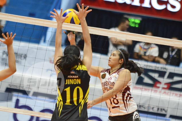 UP Lady Maroons down TIP Lady Engineers for first win in PVL Collegiate Conference