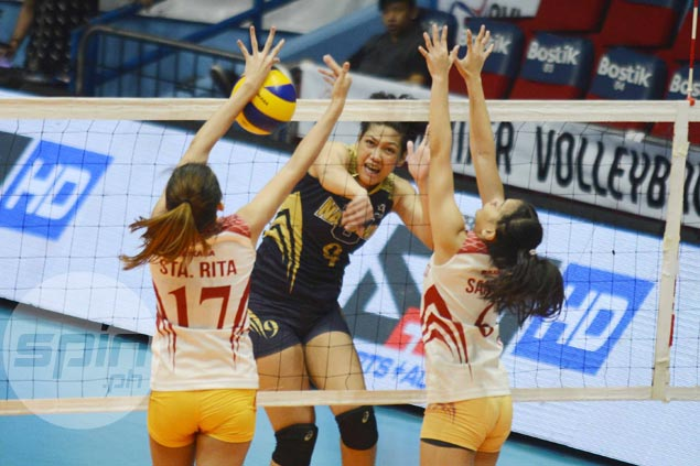 NU Lady Bulldogs turn back San Sebastian to gain share of lead in PVL Collegiate Conference