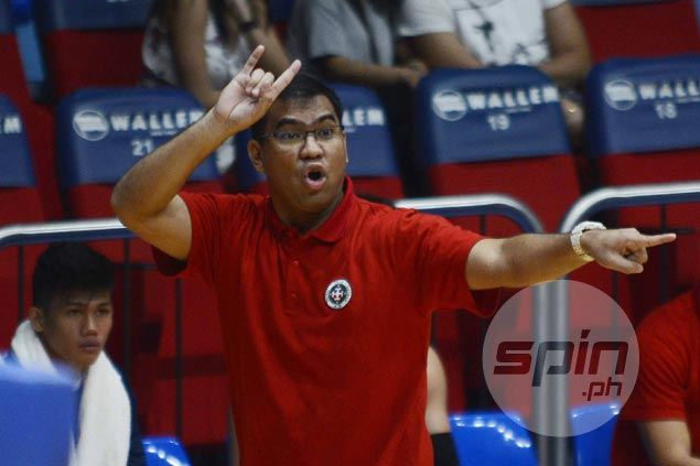 Jeff Napa calls out Letran vets to take charge in lengthy post-game huddle after third straight loss