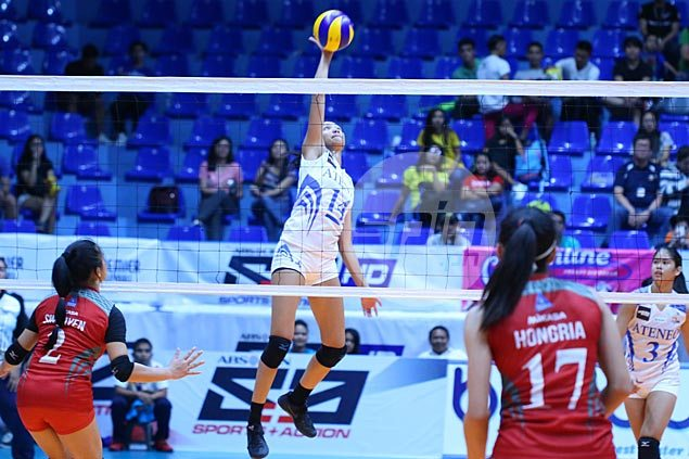 Shorthanded Ateneo Lady Eagles get back on track, send Lyceum Lady Pirates crashing back to earth