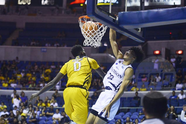 Adamson Falcons score first victory and send UST Tigers to second straight loss