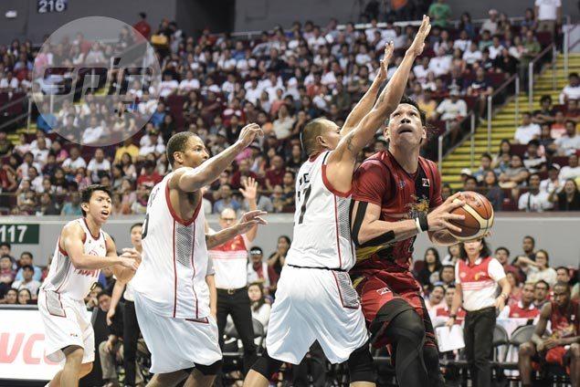 June Mar Fajardo flirts with 40-20 game as playoff-bound SMB survives scare vs winless Kia