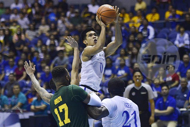 For sparking the Blue Eagles' sizzling start, Thirdy Ravena picked UAAP Press Corps Player of the Week
