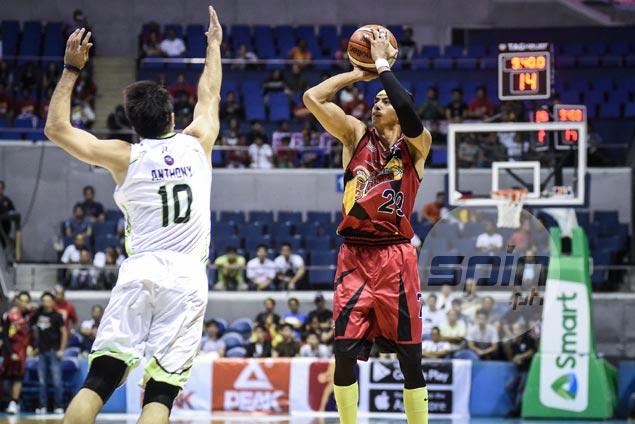 Surprise SMB top three-point shooter Arwind Santos makes life easier for June Mar Fajardo