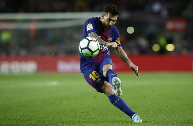 Lionel Messi fires four past hapless Eibar as Barcelona continues perfect start in La Liga