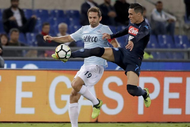 Napoli comes up with quickfire triple against Lazio to stay on top of Serie A