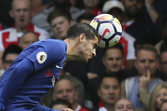 Morata nets hat trick as Chelsea downs Stoke to maintain perfect away mark in Premier League