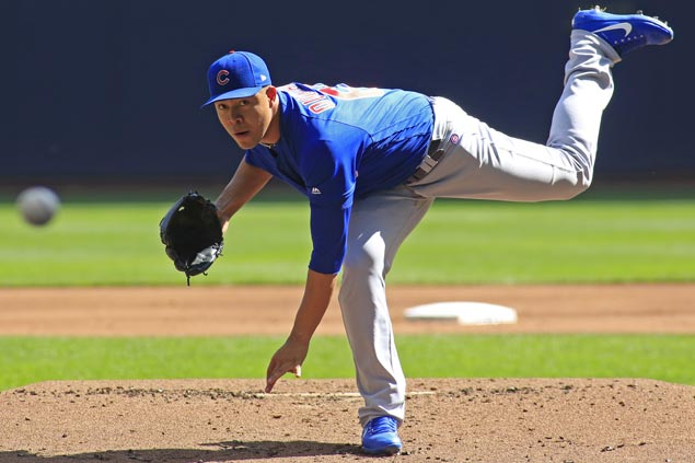 Cubs close in on second straight NL Central title as Jose Quintana shuts out Brewers