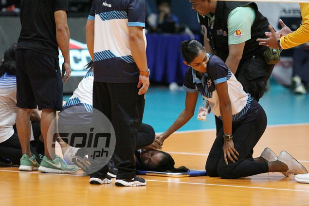 Air Padda lost for words after gruesome injury to Adamson's 'heart and soul' Jema Galanza