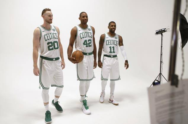 Kyrie Irving, Gordon Hayward eager to get to work as heavily retooled Celtics look to rise in the East