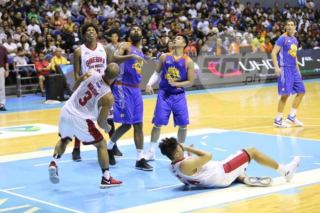Kevin Ferrer back in practice after cheek injury, hopeful to suit up for Ginebra in Game 3