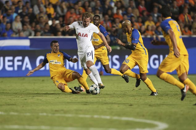 Harry Kane nets sixth hat trick of the year as Spurs rip Apoel