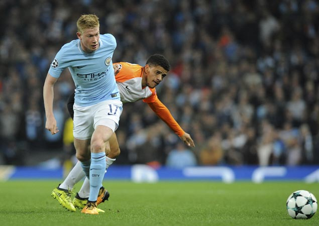 City overcomes Aguero's penalty miss as De Bruyne, Sterling score in win over Shakhtar