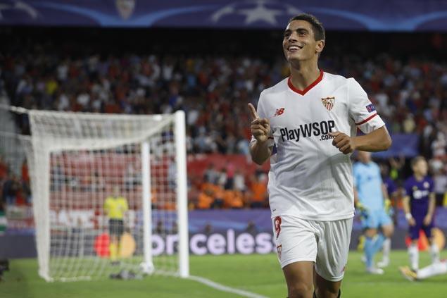 Wissam Ben Yedder nets his first hat trick in Champions League as Sevilla downs Maribor