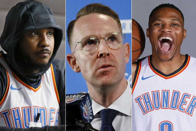 Westbrook, George, Anthony laud GM Sam Presti for bold moves to build Thunder into contender