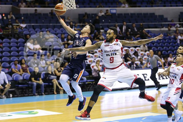Baser Amer, limping Durham shine as Meralco downs Blackwater to set up semis duel vs Star