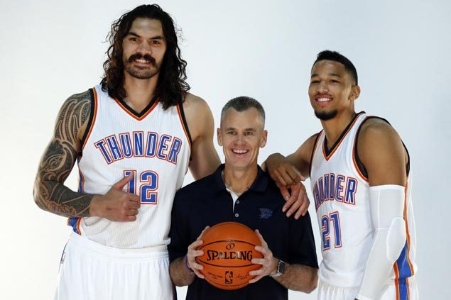 Steven Adams, Andre Roberson earn praise from OKC star additions Carmelo Anthony, Paul George