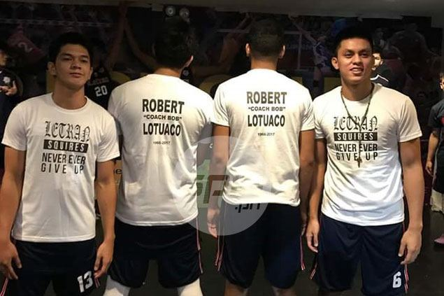 Bong Quinto honors passing of Letran high school assistant coach Bob Lotuaco with career game
