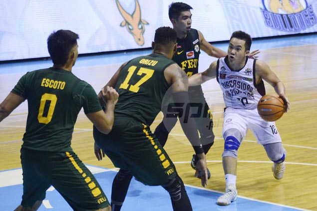 Paul Desiderio says Ron Dennison deserves credit for solid defense as FEU downs UP
